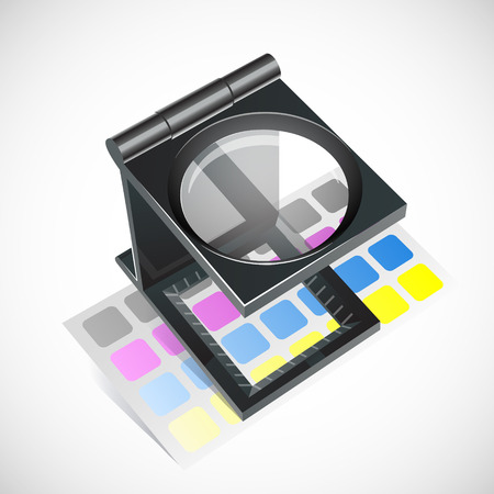 proofs: Vector print cmyk galss icon