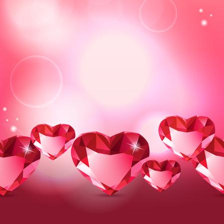 coeur diamant: Mod�le de coeur de diamant Illustration