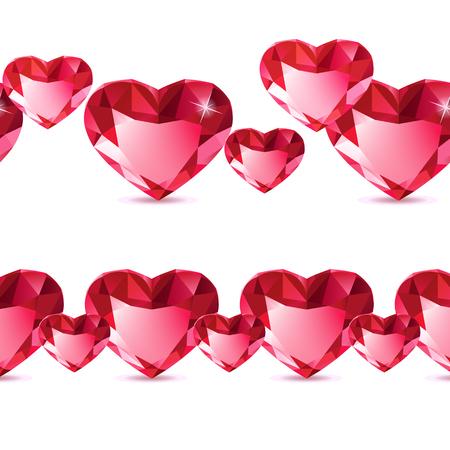 diamond heart: Diamond heart pattern Illustration