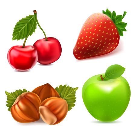Fruit icon set Illustration