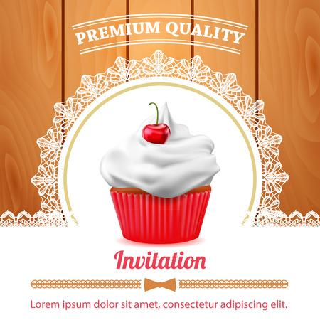 Vector cupcake banner Illustration