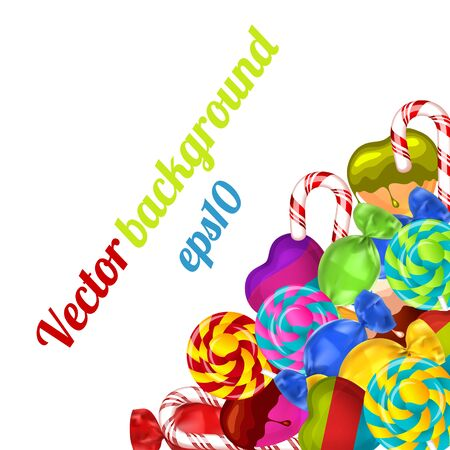 hard stuff: Bright background with candies