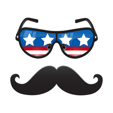 glasse: Vector Mustache and Glasse icon