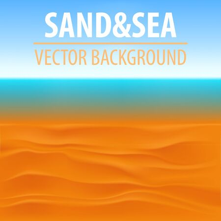 lagoon: Seascape vector illustration. Paradise beach. Illustration