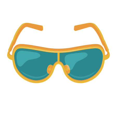 corrective lenses: Vector Sunglasses Icon Illustration