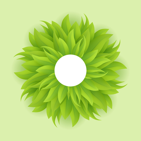 bush mesh: Green grass circle, vector