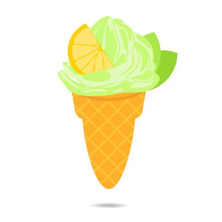 03: Flat ice cream icon 03