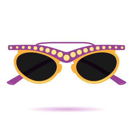 eye sight: Flat Sunglasses Icon. Icon 02 Illustration
