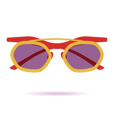 corrective lenses: Flat Sunglasses Icon. Icon 05