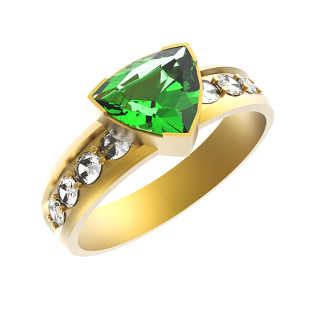 solitaire: Emerald solitaire engagement ring