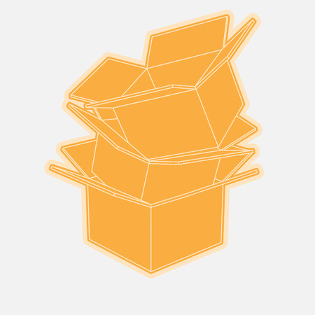 cardboard boxes: Cardboard boxes icon flat