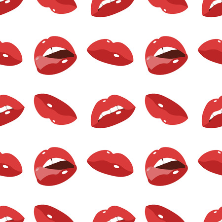 Sexy lips seamless background Vector