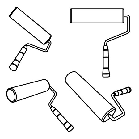 rollers: Vector illustration of paint rollers