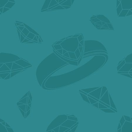 trillion: Diamond trillion ring seamless