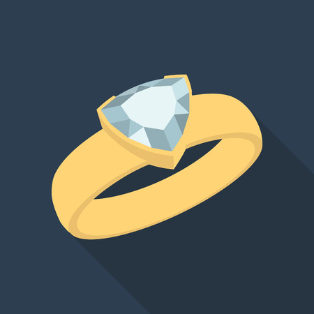 trillion: Diamond trillion ring Illustration