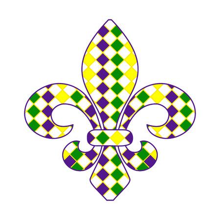 orleans: Fleur de lis Mardi Gras