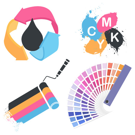 print shop: Vector print icon set