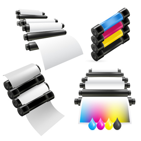 rulos: Set máquina de impresión