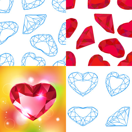 dearly: Vector fashion diamond background Illustration