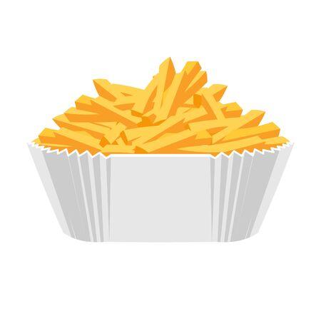 fried potatoes: Fried potatoes icon. Flat design. Illustration