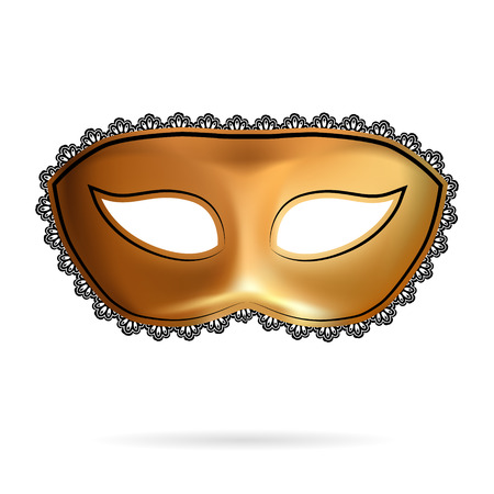 undercover: Carnival mask decorated with designs Illustration