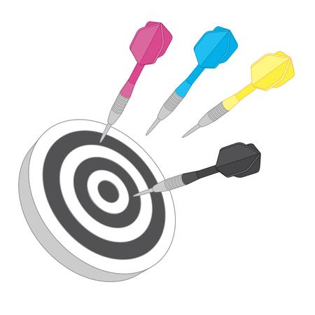Cmyk target. Flat icon Vector