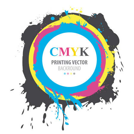 Abstract CMYK paint splash Stock Vector - 40296332