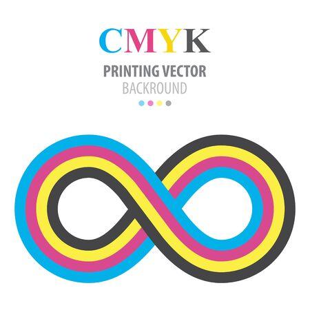 cmyk abstract: Abstract cmyk infinity