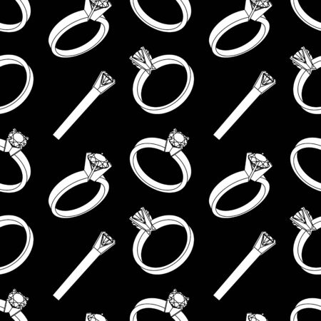 engagement ring: Seamless pattern with engagement ring