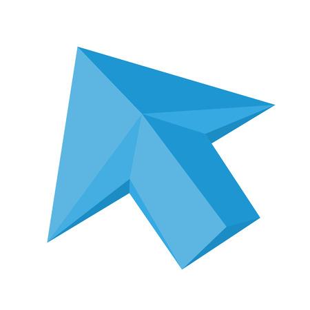 Vector flat arrow cursor Illustration