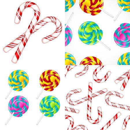 Delicious lollipop vector set Illustration