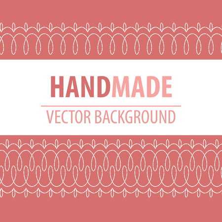 Fabric background with decorative stitches
