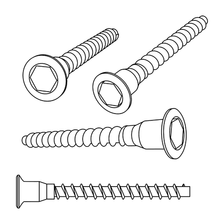 anodized: Vector illustration of screws