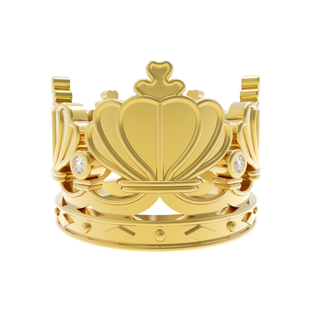 golden crown: Isolated golden crown