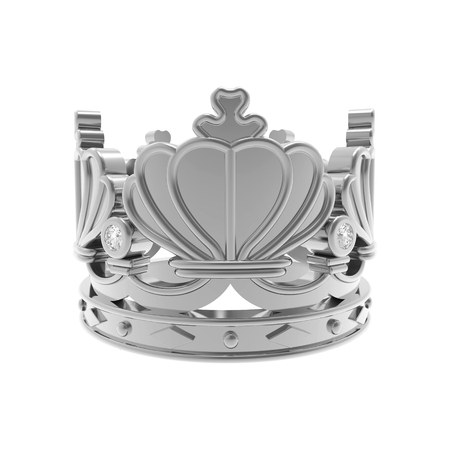 Corona de plata aislado