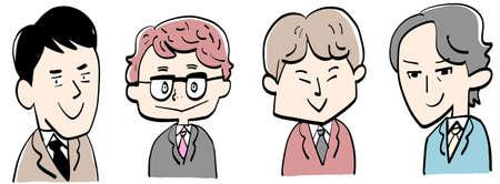 4 patterns of businessmen 일러스트