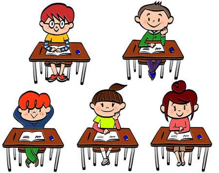 Illustration of the behavior patterns of school children 일러스트