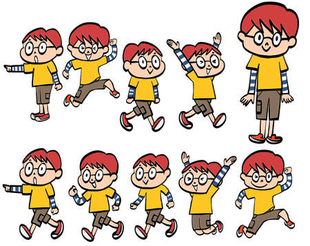 Illustration of the behavior patterns of an energetic child 일러스트