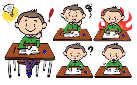 Illustration of the behavior patterns of an school girl