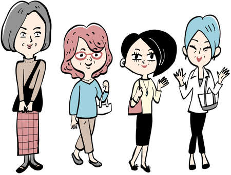 middle-aged and elderly Ladies going out