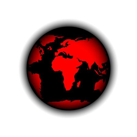 rouge et noir: Vector illustration Red Black Globe Illustration