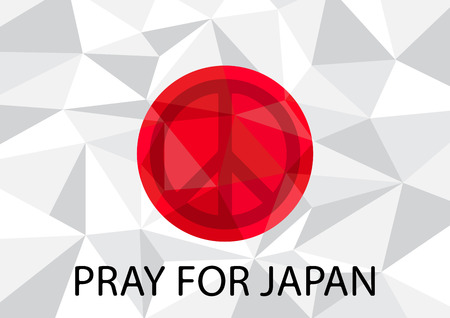 peace symbol: Pray for Japan with Peace symbol Background vector illustration