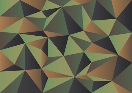 抽象的なベクトルの幾何学的な三角形の形で作られてミリタリー迷彩背景