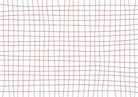 Red Burgandy Grid White Background Minimal Vector illustration