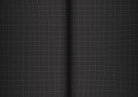 grid black background: Gray Grid Black Background open book Vector illustration