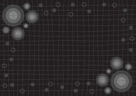 grid black background: Gray Grid Black Background with Circle Vector illustration Illustration