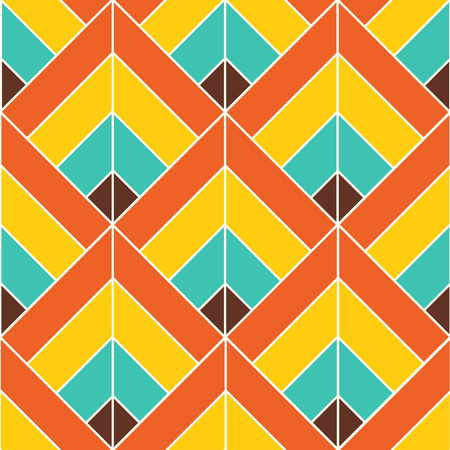 Bohemian Colorful Pattern Background Vector Illustration