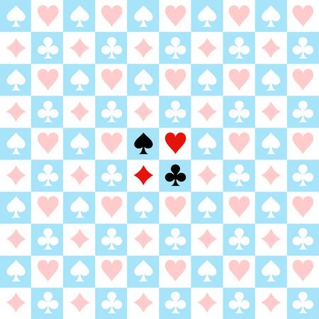 ajedrez: Juego de la tarjeta de ajedrez Blue Board fondo blanco ilustración vectorial Vectores