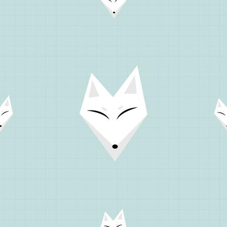 arctic fox: Arctic Fox White Background Vector Illustration Illustration