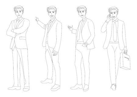 man full body: Business Man Full Body Illustration